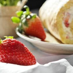 Bisquitrolle Strawberry Strawberry Cake Bisquit